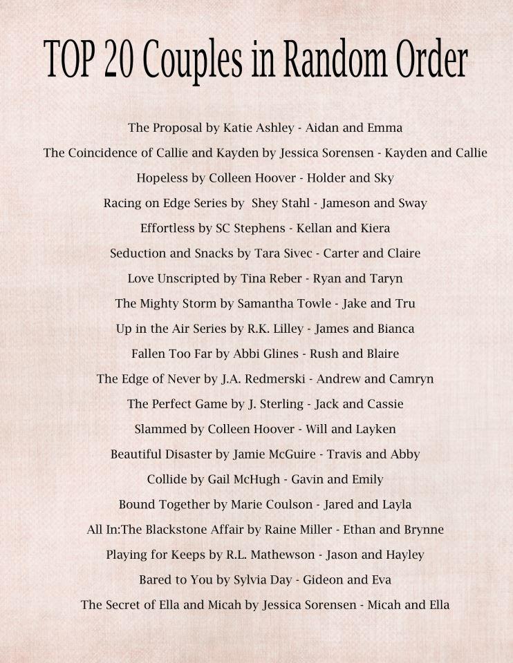 couple list