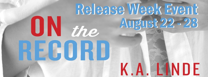 K.A. Linde On the Record Release Week Event and Giveaway