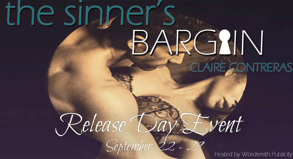 Release Day Launch and Giveaway: The Sinner's Bargain (Contracts & Deceptions #2) by Claire Contreras