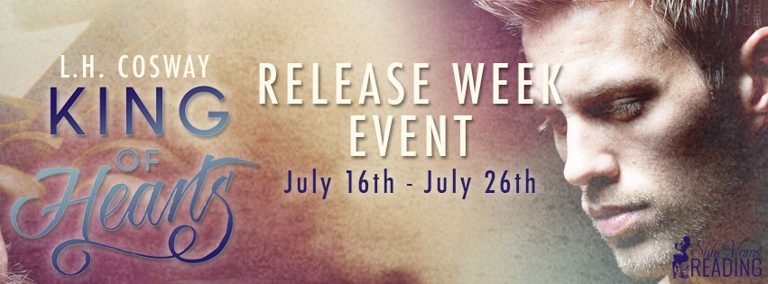 Release Week Event and Giveaway: King of Hearts (Hearts #3) by L.H. Cosway