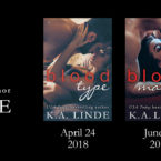 Cover Reveal: Blood Type, Blood Match and Blood Cure by K.A. Linde